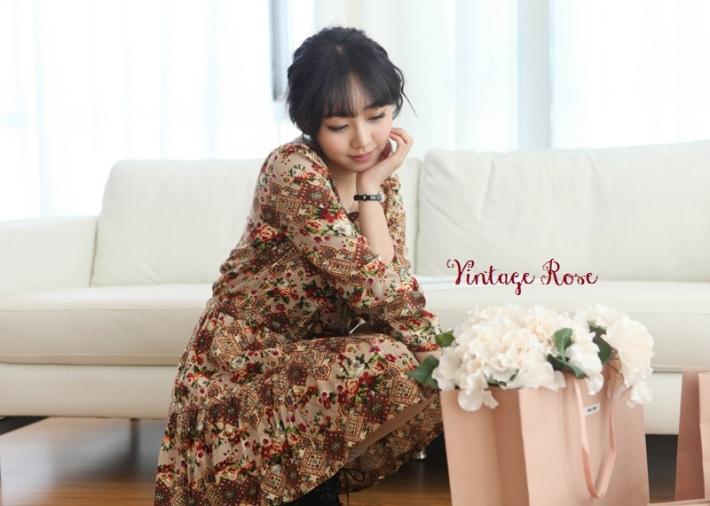 Suvin - Vintage Rose dress - 1