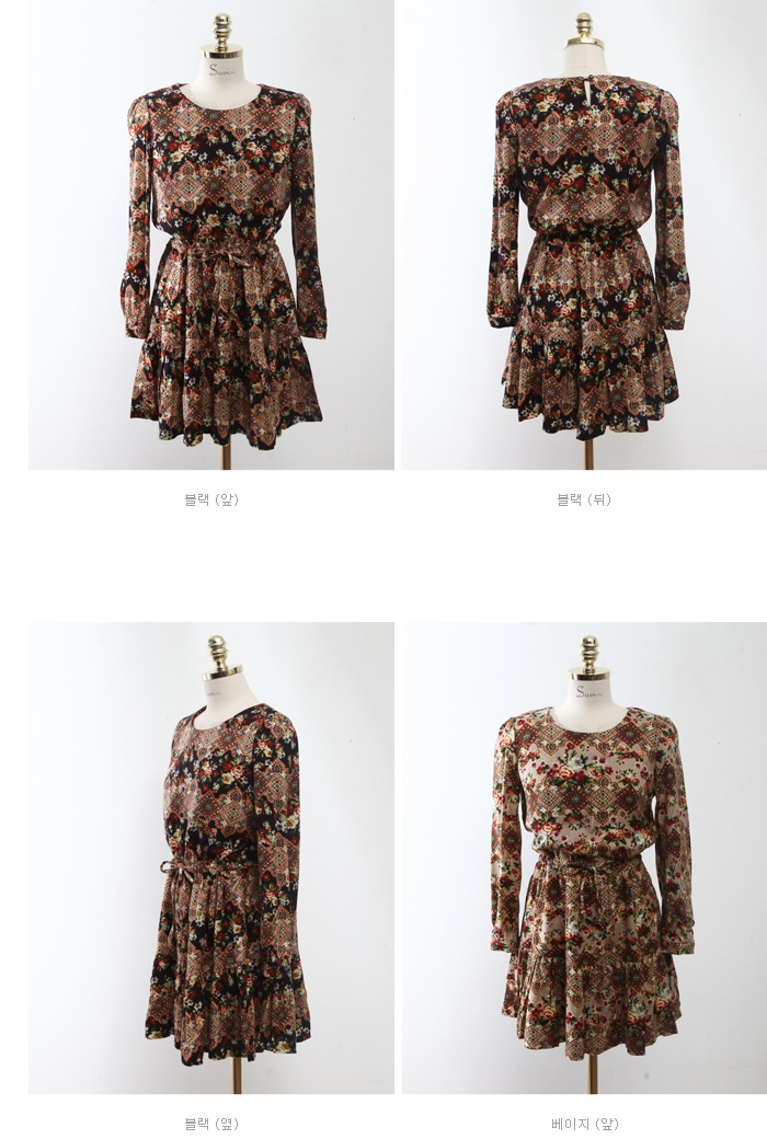 Suvin - Vintage Rose dress - 5